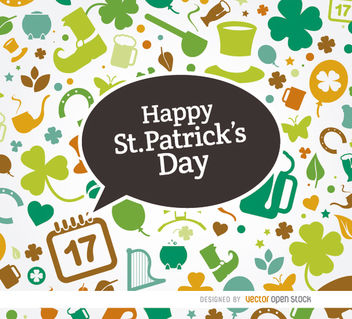 St. Patrick's symbols colorful background - Free vector #163627