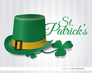 St. Patrick's Hat shamrock wallpaper - Free vector #163637