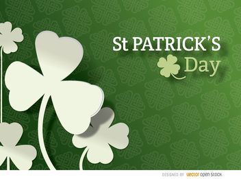 St. Patrick's Shamrock pattern background - Free vector #163647