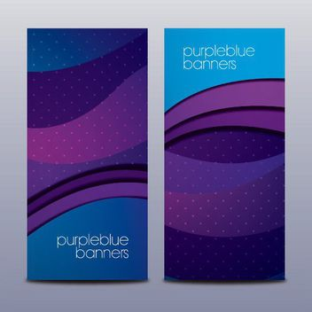 Purple Waves Blue Brochure Template - Free vector #163687