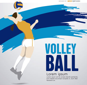 Volleyball player girl - Free vector #163717