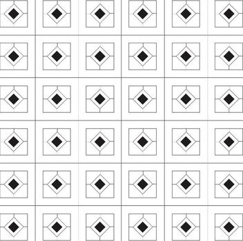 Minimal Diamond Pattern with Squares - Free vector #163757