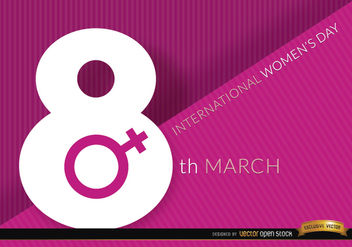 8th March women's day background - Kostenloses vector #163877