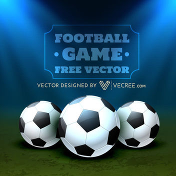 Beautiful Football Poster on Stadium - Free vector #164037