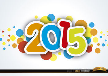 2015 new year colored spots - Free vector #164227