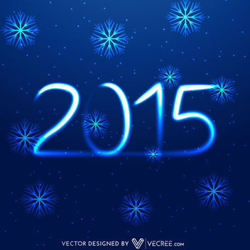 Smoky Lighting 2015 on Blue Xmas Background - Free vector #164237