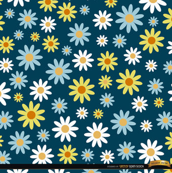 Daisies pattern background - vector gratuit #164547