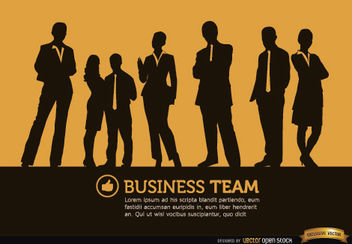Business people standing silhouettes background - Free vector #164607