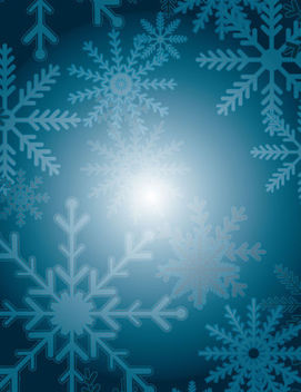 Christmas Snowflakes on Blue Turquoise Background - vector gratuit #164627