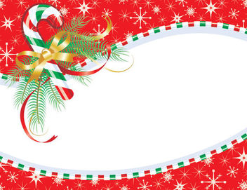 Stripy Candy Frame Christmas Card - Free vector #164657