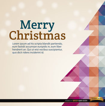 Christmas polygon tree snow background - vector gratuit #164667