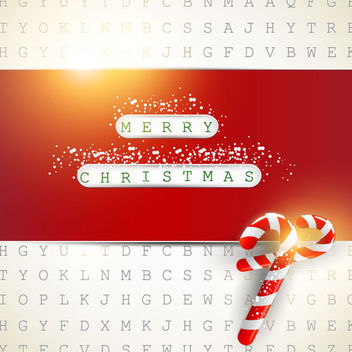 Red Christmas Card on Digital Background - Free vector #164697