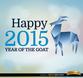 2015 year goat origami background - vector gratuit(e) #164907