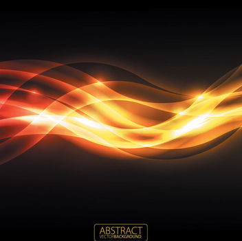 Orange & Dark Waving Glare Background - vector gratuit #165057