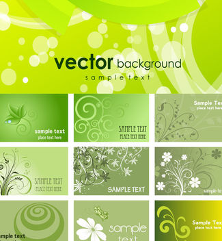 Green Eco Themed Business Card Pack - Kostenloses vector #165097