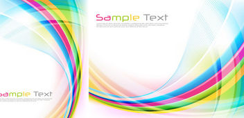 Glossy Colorful Waves & Spiral Lines Background - Free vector #165117