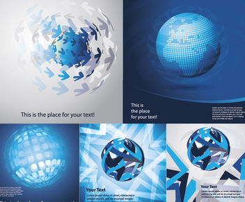 Blue Abstract Earth Themed Background Set - Free vector #165137