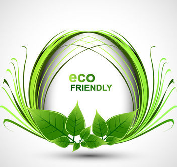 Eco Friendly Decorative Floral Banner - Kostenloses vector #165237