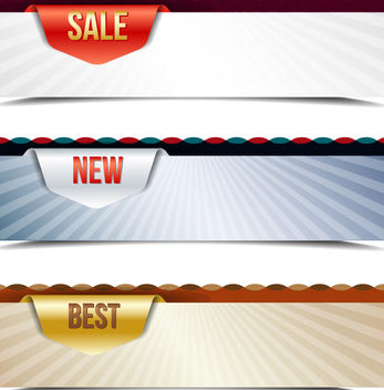 Template Creative 3 Sales Banners - vector gratuit #165287