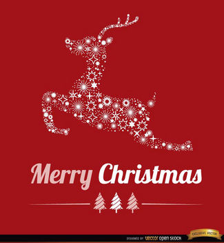 Christmas reindeer stars background - vector gratuit #165297