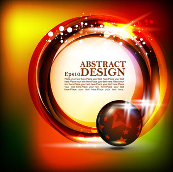 Shiny Circular Banner on Colorful Background - Free vector #165447
