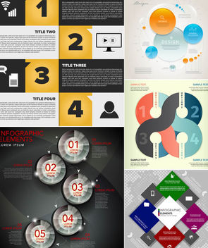 Elegant Infographic & Project Timeline Set - vector gratuit #165477