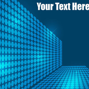 3D Tiled Blue Hexagonal Background - Free vector #165487