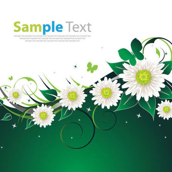 Spring Flowers Swirling Floral Background - vector #165527 gratis