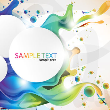 Circular Banner on Colorful Splashing Paint Background - vector gratuit #165707