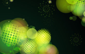 Bokeh Green Background with Halftones - vector #165727 gratis