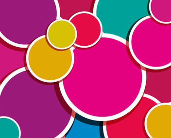 Colorful Circles of Sticker Background - vector #165767 gratis