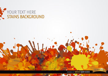 Yellow orange red paint drops background - vector gratuit #165797