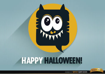Tender monster halloween promo background - бесплатный vector #165877
