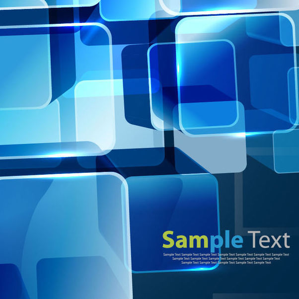 Fluorescent Blue Squares Business Background - Free vector #165977