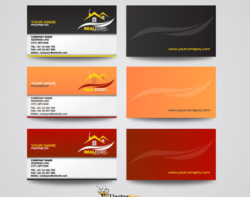 Front & Back Real Estate Professional Business Cards - Free vector #166247
