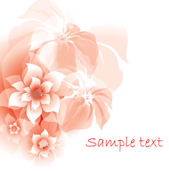 Bunch of Full Blossom Abstract Flowers - vector gratuit #166317