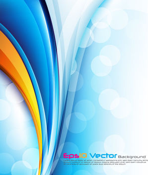 Glossy Abstract Curves Background with Bokeh - Free vector #166407