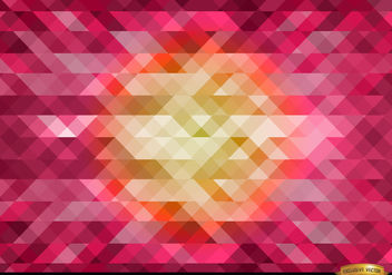 Orange in center pink polygonal background - vector gratuit #166427
