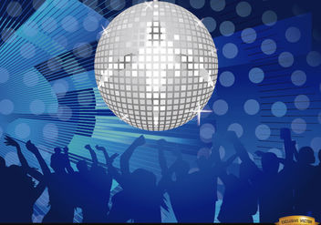 Mirror ball disco night party - Free vector #166537