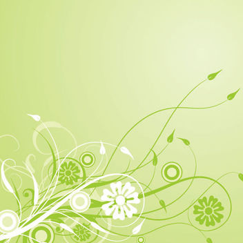 Green Swirling Creeper Leafy Background - Free vector #166627