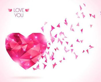 Diamond Texture Red Valentine Background - Free vector #166657