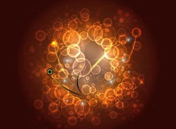 Shiny Glowing Brown Circles Background - Free vector #166667