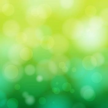 Abstract Bokeh Circles on Green Background - Free vector #166717