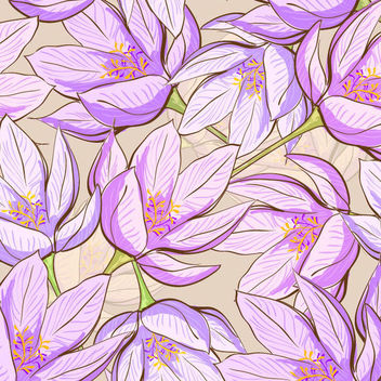 Retro Spring Floral Seamless Pattern - Free vector #166987