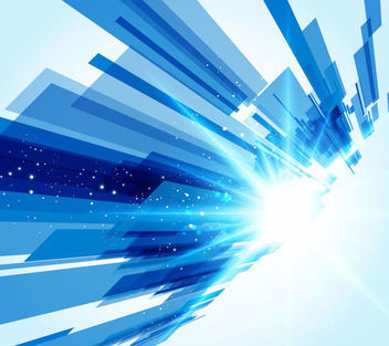 Blue Tech Abstract Shiny Background - Free vector #167037