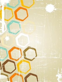 Grungy Background with Geometric Circles - vector gratuit #167147