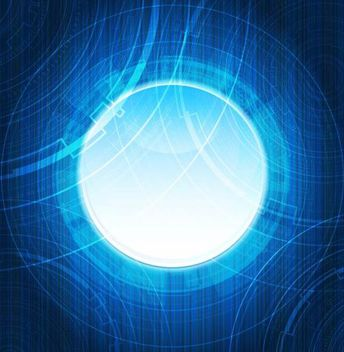 Futuristic Blue Light Background - Free vector #167157