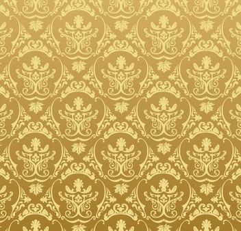 Golden Retro Ornamental Pattern - Free vector #167197