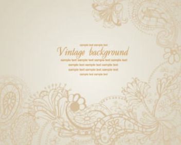 Vintage Floral Frame Background - vector #167217 gratis