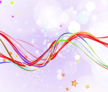 Abstract Background with Colorful Wavy Lines - vector gratuit #167307